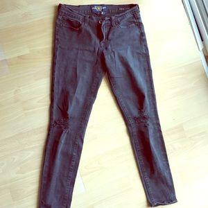 Lucky Brand Charlie Skinny Black Distressed Jeans